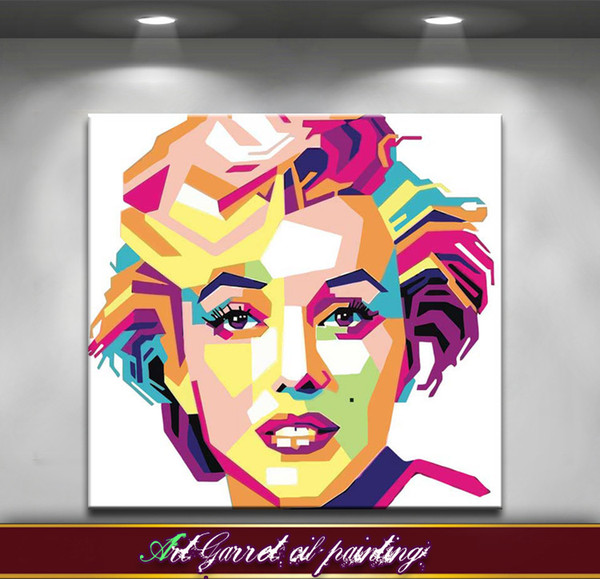 Free shipping Handmade Modern Abstract oil painting on canvas Art Decorative Pop art paintings Monroe for wall decor