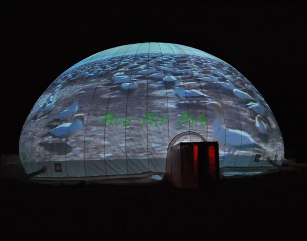 Outdoor giant portable inflatable planetarium inflatable projection air igloo tent,movie dome house for sale