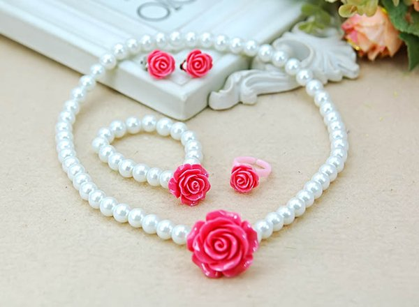 white and rose