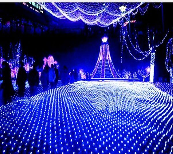 3 M x2M 210 LED Corda de Fadas Xmas Árvore de Malha Cortina de Teto Casa Janela Parede de Luz Net Festival de Natal Decoração Do Feriado AC110V-250V