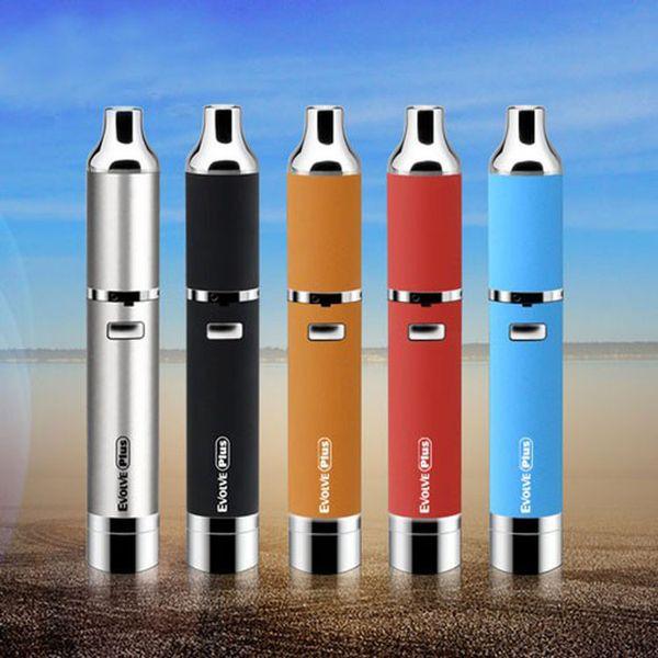 Authentic Yocan Evolve Plus Wax Starter Kits 1100mah Battery Quartz Dual Coil Silicone Jar e cigarette vaporizer evolve plus atomizer