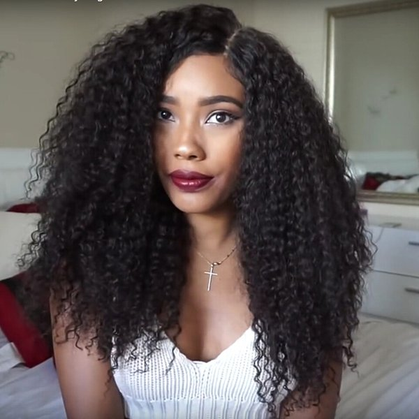 Free Shipping Kinky Curly Human Hair Lace Wigs With Baby Hair Afro Kinky Curly Glueless Full Lace Wigs For African Americans