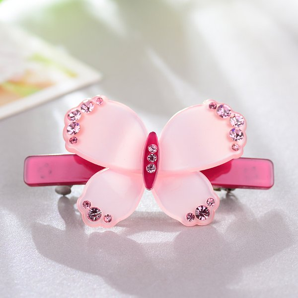 Jewelry Lovely acrylic rhinestone butterfly hair clips new arrival fashion crystal Barrettes hair accessories sweet women