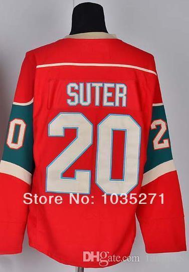 # 20 Ryan Sutter Jersey, Jersey de hóquei no gelo, camisa esporte, melhor qualidade, logotipo do bordado, tamanho M - XXXL, aceitar a ordem de mistura