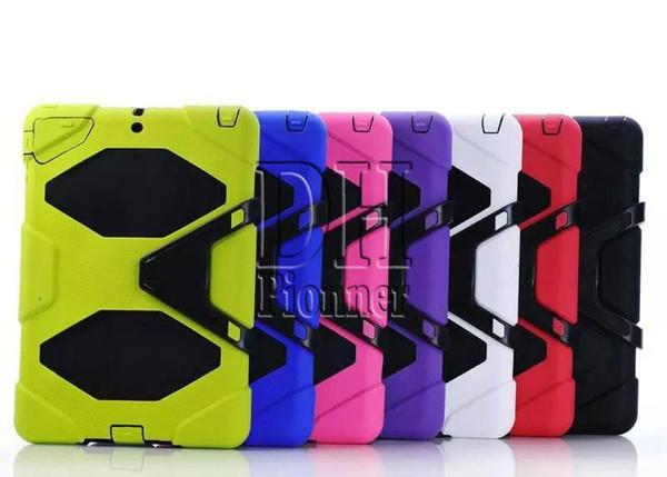 Résistant aux chocs et à la poussière avec support à accrocher pour iPad 2 4 mini 5 6 air Samsung T350 T330 8