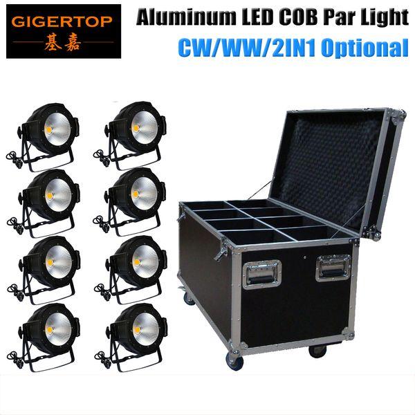 Discount Price 8PCS 100W Warm White/Yellow COB Stage Led Par Aluminum Cans Master-Slave,Auto Run DMX512 Control LCD Display TP-P55A