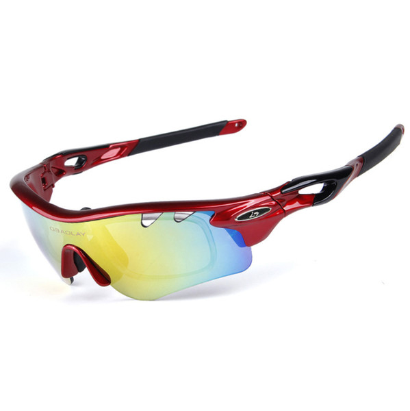 top popular Mens Womens Polarized Sports Sunglasses Outdoor Cycling Sunglasses with 5 Interchangeable Lenses for Fishing Bike Hiking Running Golf, UV400 2019