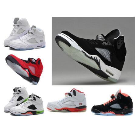 cheap 5 v blue Suede Basketball Shoes V METALLIC SILVER White Men Athletics Boots 5s Sports Sneaker Jumpman Casual Trainers Fashion Training