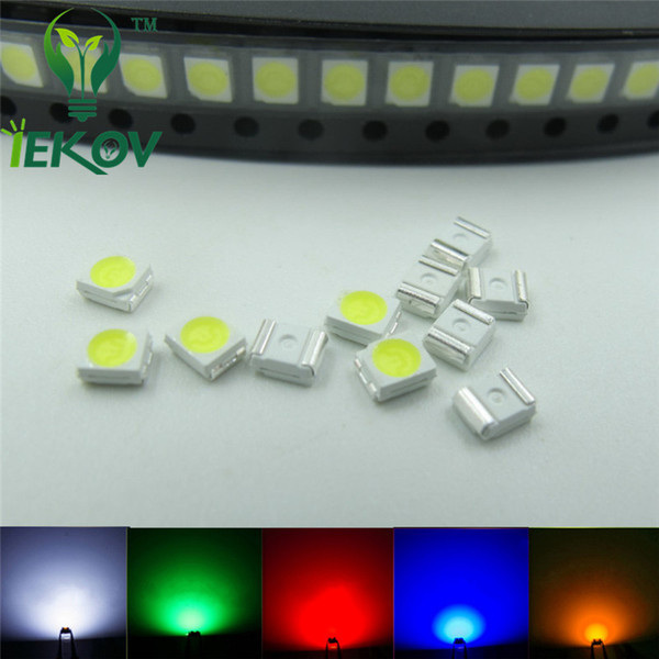 1000pcs PLCC-2 SMD/SMT LED 200X Each color White Red Blue Green Yellow Emitting Diode 3528 1210 High quality SMD Chip lamp beads