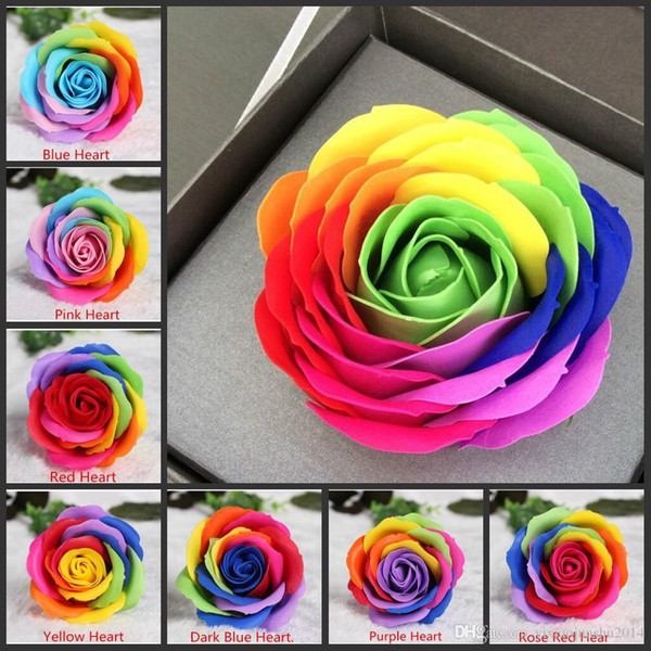 Hot Sale colorful Rose Soaps Flower Packed Wedding Supplies Gifts Event Party Goods Favor bathroom accessories soap flower artific