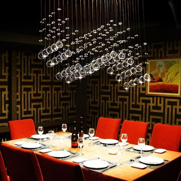 Contemporary 5/6-Light Crystal Curtain Wave Chandelier Light LED GU10 Bulb Lights Chandelier Ceiling Lights Modern Fashion Pendant Lamps