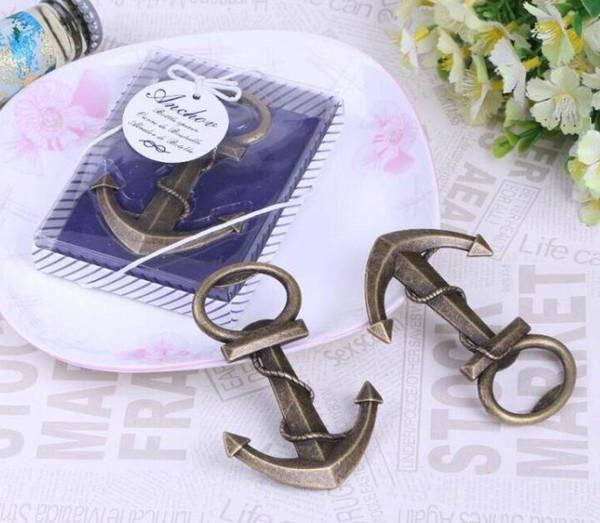 Apribottiglie apribottiglie a forma di ancora ariose creative uniche per matrimoni Forniture per feste di compleanno con confezione