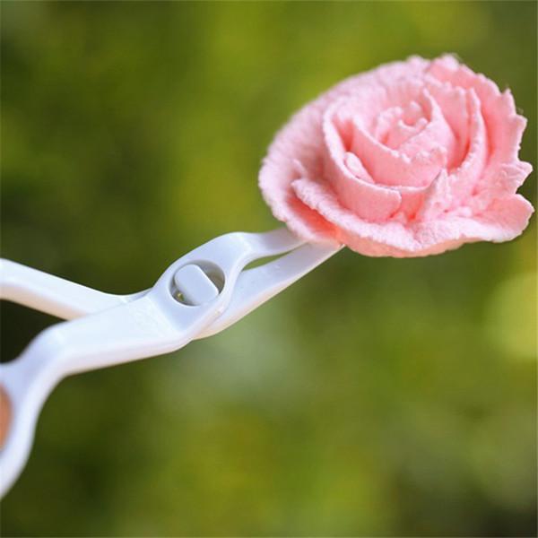 Großhandels-1PC Kunststoff Schere für Creme Transfer Fondant Kuchen dekorieren Schnittblume Modellierung Werkzeuge Küche Backen Zubehör