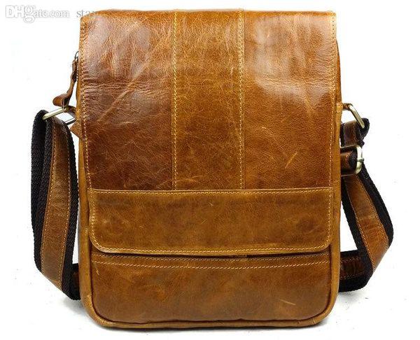 Wholesale-new arrival genuine leather man fashion cross body shoulder bags ,vintage cowhide messenger bags 8671