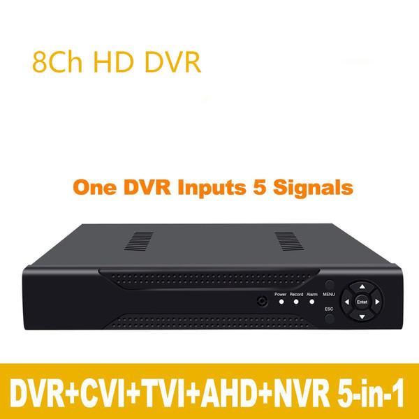 1080P 2mp cámara CCTV 1080N 8 canales 8 canales de vigilancia Grabador de video híbrido 5 en 1 Onvif NVR TVI CVI AHD DVR H.264