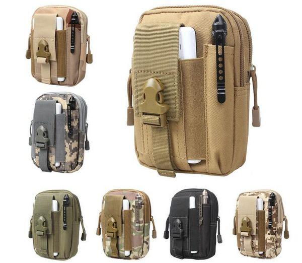 Militar Molle Tático Saco Da Cintura Carteira Bolsa Caso de Telefone Ao Ar Livre Saco De Caminhadas Camping
