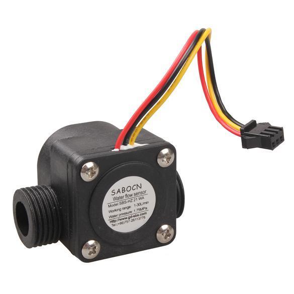 Practical G1/2 Water Flow Sensor Fluid Flowmeter Switch Counter 1-30L/min Meter HB88