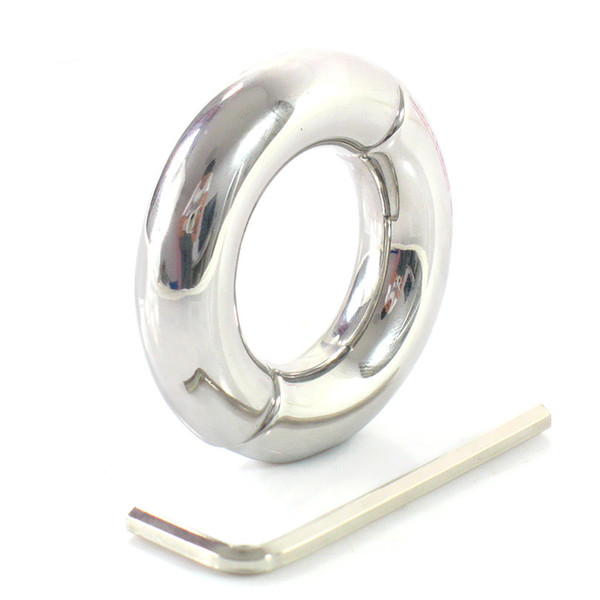 Wholesale- male penis ring stainless steel scrotum bondage weight ball stretcher cockring cock rings adult sex toys for men on the dick