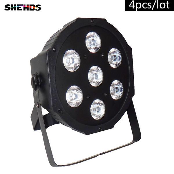 4PCS/LOT Fast Shipping DJ Stage Lightings Disco DJ party KTV LED Light Wash RGB Uplighting LED Flat Par 7x9W RGB Lighting , Stage Lighting