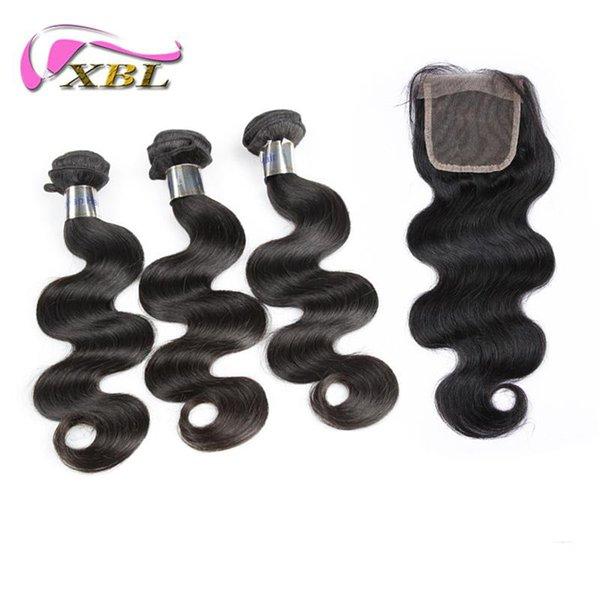 7A Peruanische Körperwelle Haar Großhandel Reines Menschenhaar Frei Schuppen Und Verwicklung Doppel Große Natürliche Farbe Einschlagfaden und Verschluss