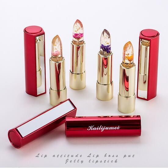 Kailijumei Flower Magic Color Temperature Change Moisturizer Bright Surplus Lipstick Lips Care Balm Batom Flowers Lipstick Lip Gloss