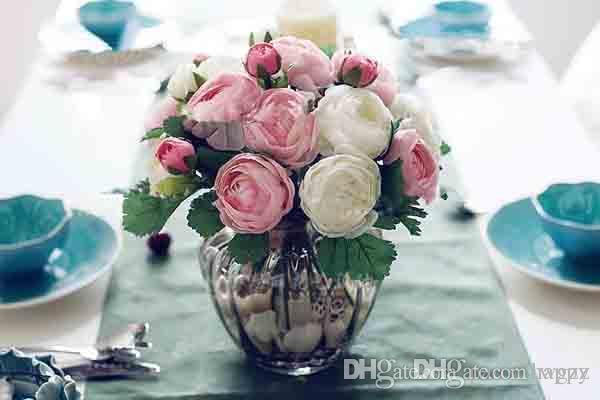 Pequeno Boutique de Venda de Chá Coreano Rose Bouquet Artificial Silk Peony Simulação de Flores Camélia A Noiva Segurando Flores Flor Por Atacado