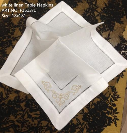 """top popular Home Textile 12PCS Lot Elegant French styling white linen Table Napkin18""""x18""""Wedding decoration Best Quality makes any guest feel welcome 2021"""