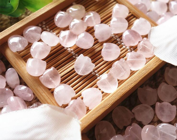 Free shipping 30 pcs Natural Rose Quartz Beads, Flower, 8mm, Hole:Approx 1mm sold per bag