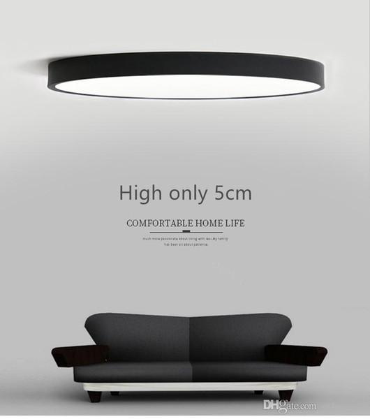 Großhandel RC Dimmbare UltraThin 5cm Led Deckenleuchte Wohnzimmer Lampe  Modern Einfache Schlafzimmer Lampe Esszimmer Deckenleuchten Plafondlamp Von  ...