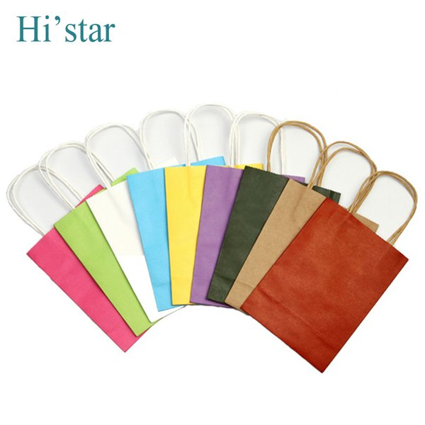 2016 20 pieces/lot new arrival High Quality Wholesale Free shipping fashion kraft paper shopping bag, gift handle paper bag