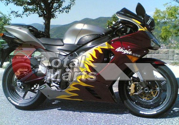 Fairing For Kawasaki Ninja Zx6r Zx 6r 636 05 06 2005 2006 Injection Red Fire F5626c Motorcycle Racing Fairing Motorcycle Racing Fairings From