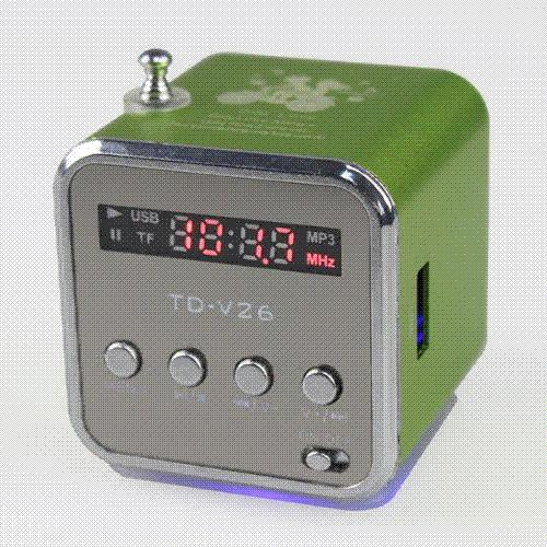 Portable HIFI Mini Speaker MP3 Player Amplifier Micro SD TF Card USB Disk Computer Speaker with FM Radio
