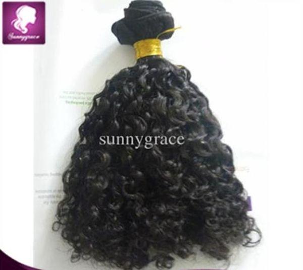 Trama brasileña rizada de moda del pelo color # 1b de la extensión del pelo humano 100 gramos por pedazo precio al por mayor