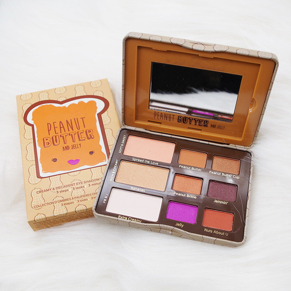 New Makeup Faced Peanut Butter & Jelly Palette Eye Shadow Palette 9 color eyeshadow palette DHL free shipping