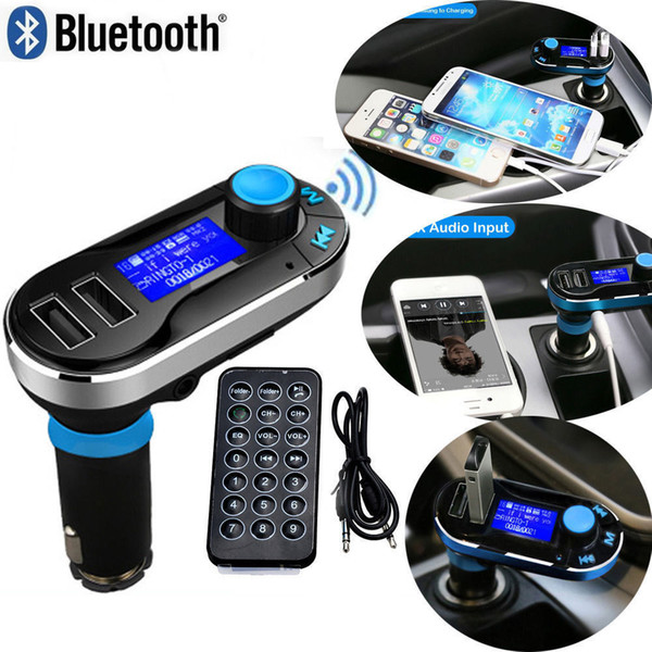 best selling Wireless T66 MP3 Player Car Kit FM Transmitter With Car Audio Remote Control LCD Display DHL Free A-CZ