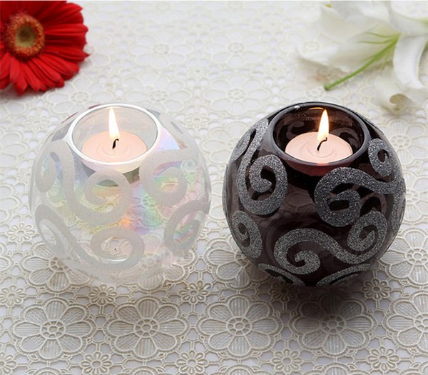 Crystal Glass Candle Holder European-Style Candlelight Creative Wedding Candle Cup Prop Decorate The Table Furnishing Article Candle Holders