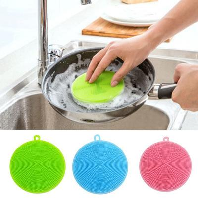 Multifunction Bowl Cleaning Brush Silicone Bowl Dish Cleaning Scourers Household Kitchen Pot Wash Tool kitchen accessories