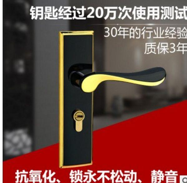 Macchina di blocco per porte interne in legno muto con serratura a maniglia in lega di zinco