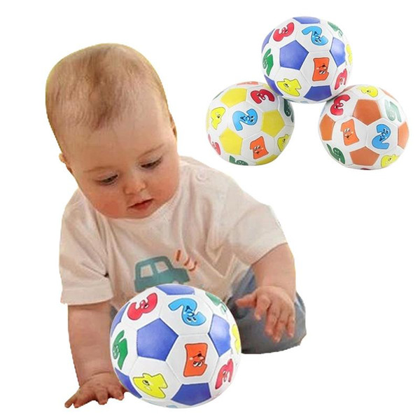 Children Kids Educational Toy Baby Learning Colors Number Rubber Ball Plaything HB88