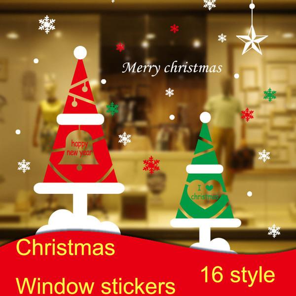 Wholesale Christmas Window Stickers Diy Glass Display Window Sticker ...
