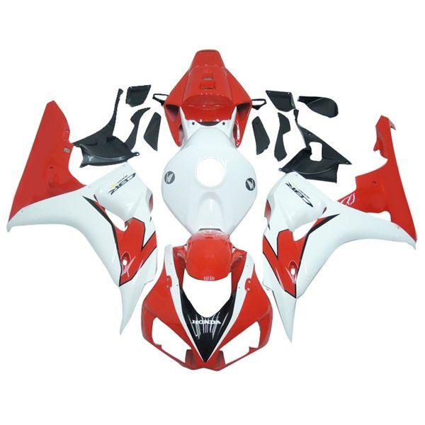 Plastikverkleidungen für Honda CBR1000RR 2006 2007 CBR1000 06 07 ABS-Motorrad-voller Verkleidungs-Kit-Körper-Rahmen Cowling White Red Hulls