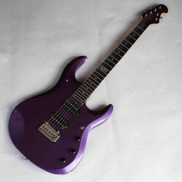 Custom JPX 24 Frets Music Man Ernie Ball JohnPetrucci Metallic Purple Electric Guitar Ebony Fingerboard Locking Tremolo Bridge Chrome Hardw