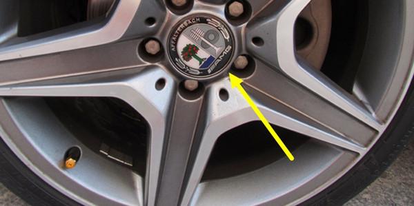 75mm /// AMG Pommier ABS + Aluminium Auto Moyeu De Roue Cap Center Cap Cover AFFALTERBACH Logo Pour Mercedes Universel Modèle Bonne Qualité