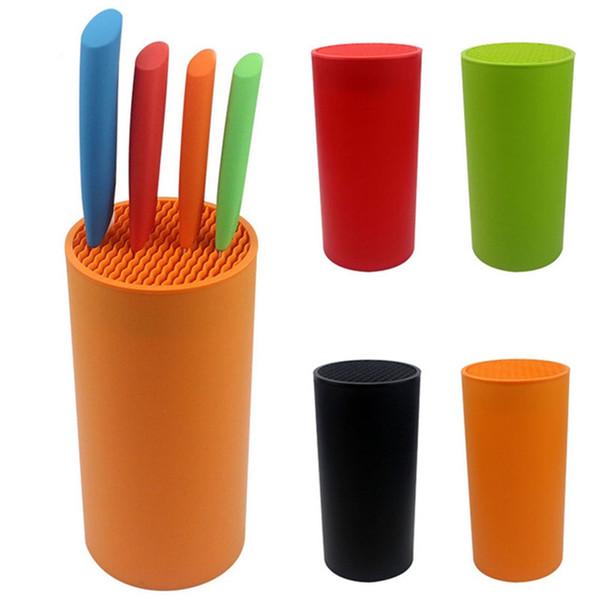 Portautensili multifunzione in plastica multifunzione portautensili coltello coltello stand sooktops tubo scaffale cromofobo