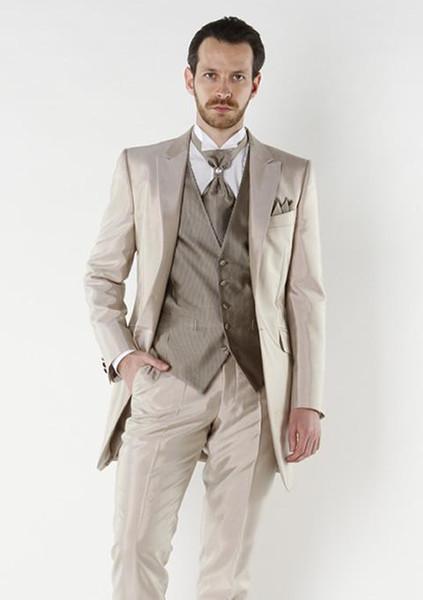 Custom made two pieces wedding groom tuxedos men's dress classic groom tuxedos / wedding suits (jacket+Pant )
