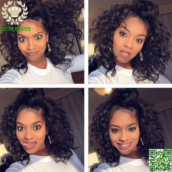 Grade 6A Short Wavy Brazilian Human Hair Lace Front Wig Glueless Full Lace Human Hair Wigs Loose Wave Lace Wig With Baby Hair