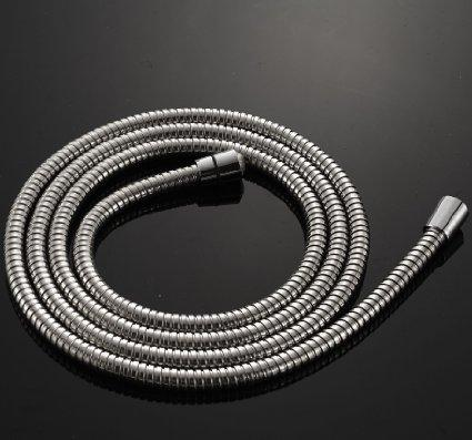 best selling Wholesale and Retail Extra Long Stainless Steel Handheld Shower Hose 2.45 Meters Chrome Finish