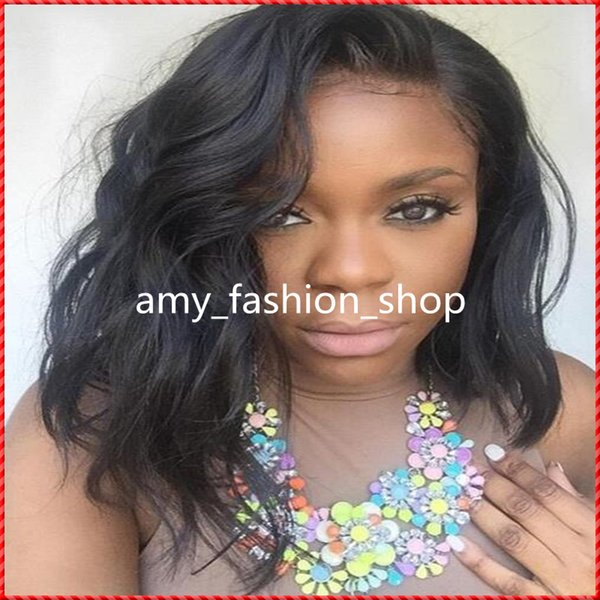 Free Shipping New Arrival GrantSea Hot sale Grade 6A 10 Full Lace Wig short Hair 100% Human Hair wig