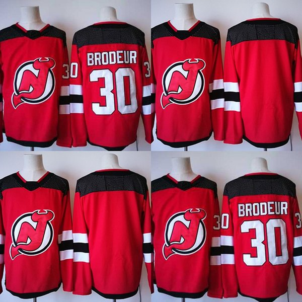 2017-2018 Season New 30 Martin Brodeur New Jersey Devils Jerseys Stitched Men Hockey Jersey Red S-3XL Free Shipping