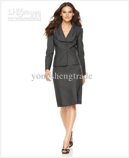 Women Suit Brand Lady Suit Three Button Jacket & Skirt Accetp Custom Made
